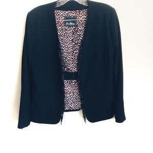Sam Edelman Beaded Trim Cascade Blazer